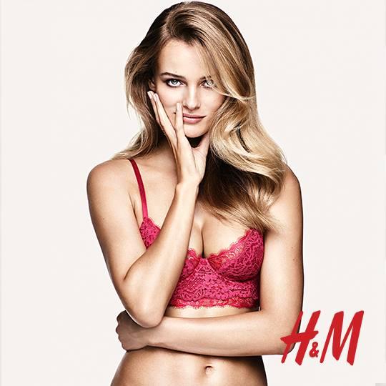 Edita Vilkeviciute H&M Valentine's Day Lingerie